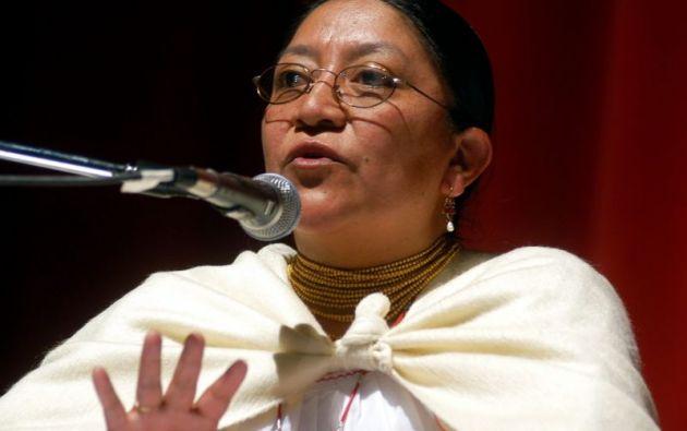 Nina Pacari, 58 años. Foto: EFE