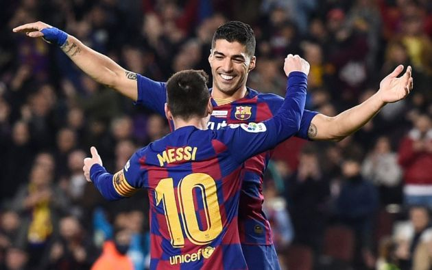 Lionel Messi y Luis Suárez. Foto: EFE