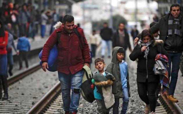 Refugiados en Grecia. Foto referencial: EFE