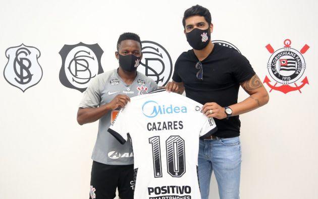Juan Cazares fue presentado por el Corinthians. Lucirá la camiseta 10.
