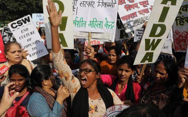 n grupo de manifestantes se reunió en una marcha en Nueva Delhi, India, 2019. Foto: EFE/referencial