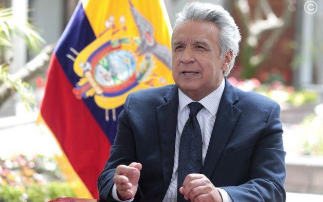 """""""Nuestra obligación es sembrar hoy el futuro que cosecharán las futuras generaciones y nuestro principal compromiso en un mejor mañana"""", dijo Moreno. Foto: Presidencia"""