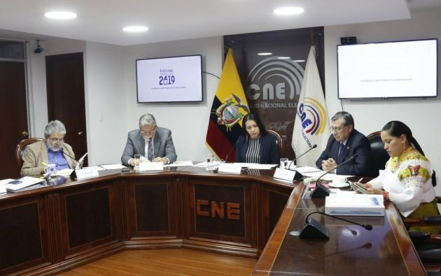 Amenazas contra la presidenta del organismo, Diana Atamaint; el vicepresidente, Enrique Pita, y los consejeros José Cabrera Zurita, Luis Verdesoto y Esthela Acero.