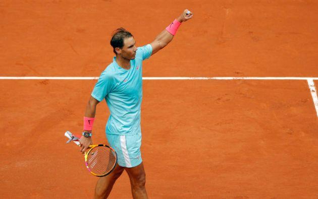 Rafa Nadal celebra su triunfo en segunda ronda de Roland Garros ante McDonald. Foto: EFE