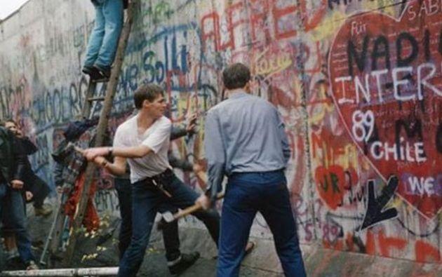 El  muro de Berlín cayó el 9 de noviembre de 1989. Foto: FPP