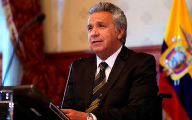 El presidente de la República, Lenín Moreno, anunció que ya recibió los primero US$ 2.000 millones del préstamo al FMI.