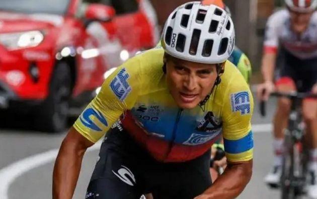 """""""Esto es un sueño. El año pasado veía muy lejos poder ganar una etapa. Pero intentando... No lo puedo creer aún, esto es un sueño, un sueño hecho realidad"""", dijo en meta el ciclista carchense."""