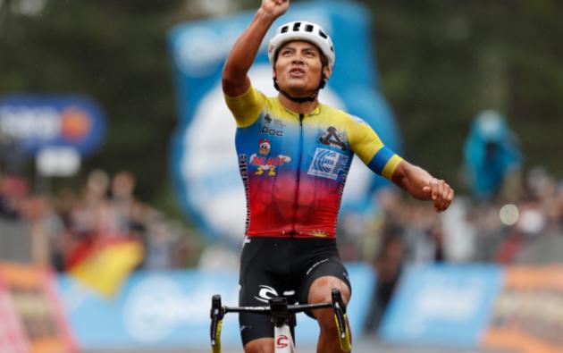 Jonathan Caicedo, ganador de la etapa 3 del Giro de Italia 2020.