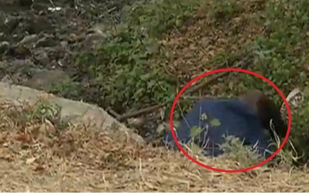 El cadáver estaba cerca de un canal del sector de la Perimetral en Nobol.