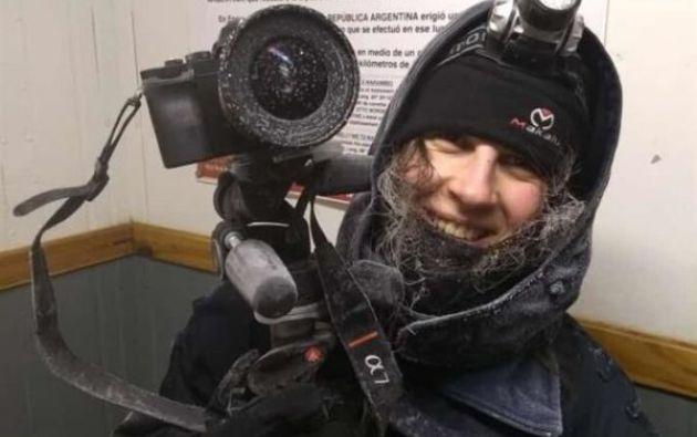 Jorgelina Álvarez fotógrafa y meteoróloga argentina. Foto: EFE