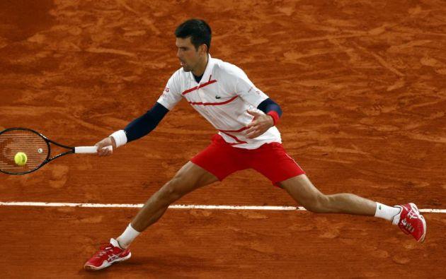 Pablo Carreño durante el partido contra Novak Djokovic en el Roland Garros. Foto: EFE