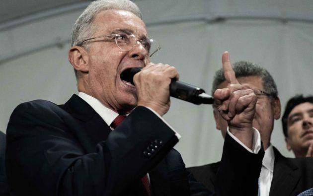 Uribe está en detención domiciliaria desde el 4 de agosto por orden de la Corte Suprema de Justicia. Foto: EFE