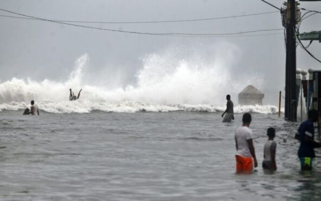 El mar inundó el Malecón de la Habana (Cuba) al paso del Huracán Irma en 2017.Foto: EFE