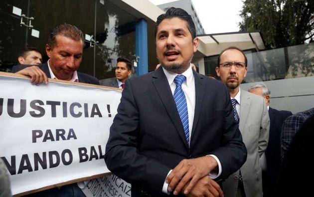 Fernando Balda fue impedido de participar por adeudar pensiones alimenticias, según el CNE.