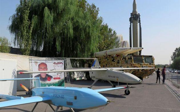 En la imagen, drones de las Fuerzas Armadas de Irán. Foto: EFE.
