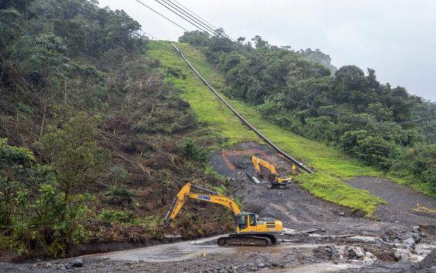 Petroecuador realizó una cuarta variante al oleoducto SOTE en el sector de El Reventador debido a la erosión regresiva en el río Coca. Foto: @EPPETROECUADOR