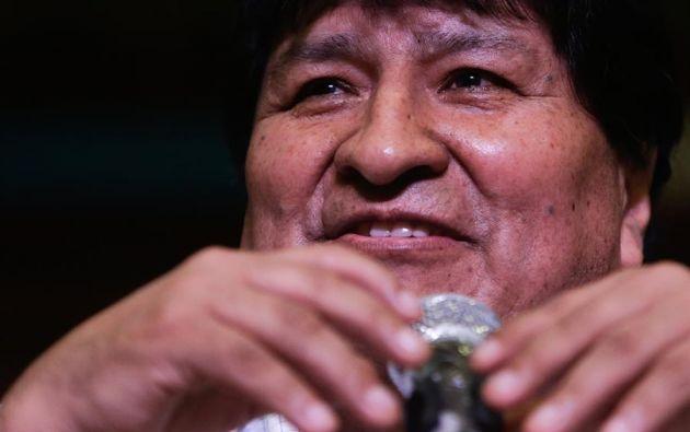 """Morales reiteró este lunes que su gran """"deseo"""" es volver al país y que """"tarde o temprano"""" regresará. Foto: EFE"""