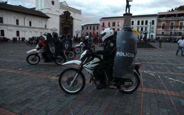 Al menos 2.000 manifestantes secundaron la convocatoria del Frente Unitario de Trabajadores (FUT). Foto: EFE