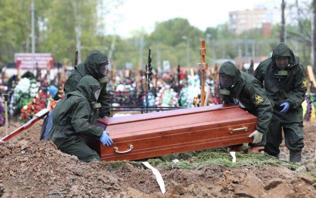 Cementerio en Rusia. Foto: EFE