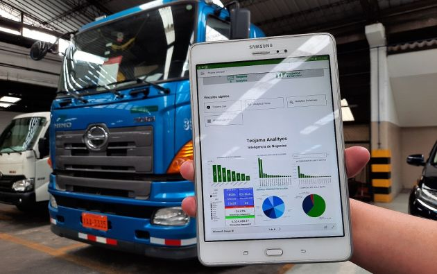 Teojama Analytics permite procesar datos de facturación, ingresos al taller, tipos de mantenimientos realizados, entre otros datos. Foto cortesía.