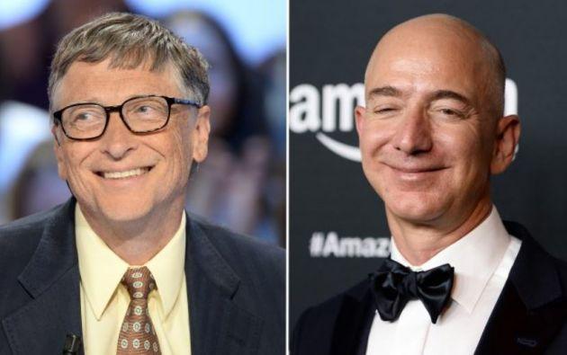 Jeff Bezos y Bill Gates, las dos personas más ricas del mundo, según Forbes. Foto: EFE
