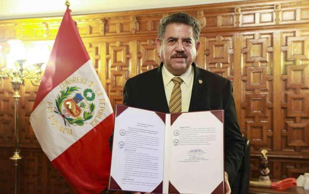 Merino fue nombrado presidente del Congreso este 16 de marzo. Foto: EFE