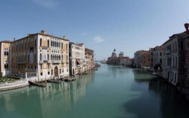 Vista de los canales de Venecia, amenazada por la subida del nivel del mar. Foto: EFE
