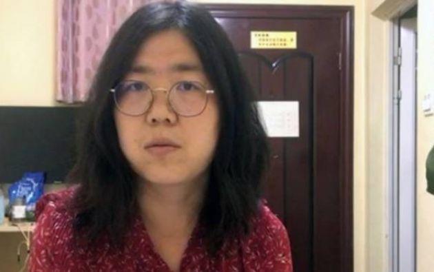 La periodista china de 37 los, Zhang Zhan.
