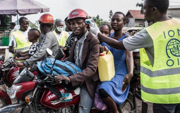 Puesto de control contra el ébola en la zona portuaria de Goma, noreste de la República Democrática del Congo (RDC) y colindante con el lago Kivu. Foto: EFE