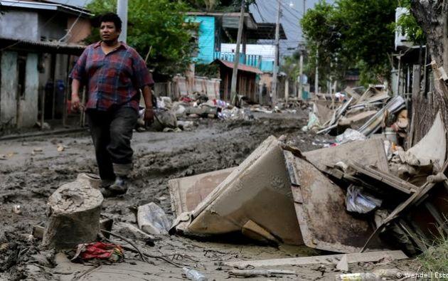 Imagen de la destruccción que dejó el huracán Iota.