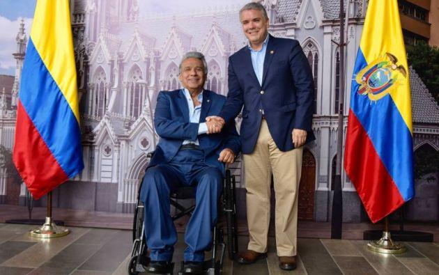 Los presidentes Lenín Moreno e Iván Duque.