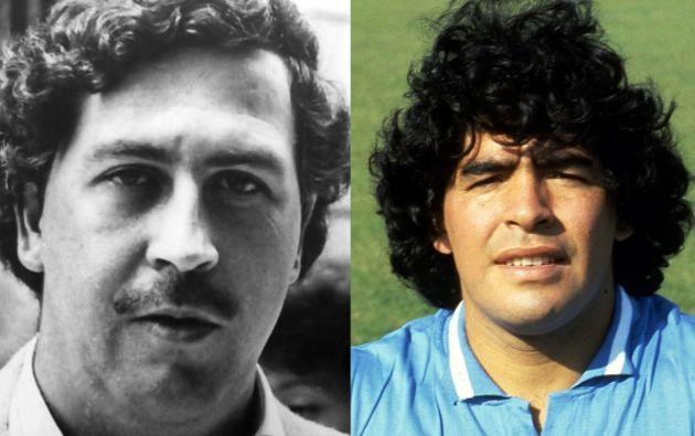 Pablo Escobar y Diego Maradona.