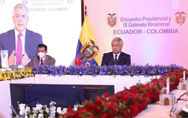 """""""Las fronteras no deberían existir (...) peor aún entre países hermanos"""", agregó Moreno en su alocución."""