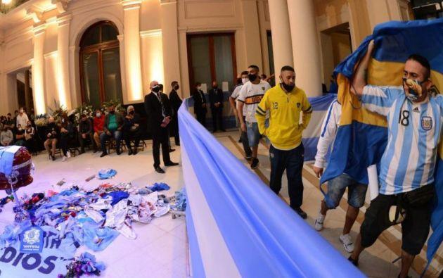 Velorio De Diego Maradona en la Casa Rosada. Foto: EFE