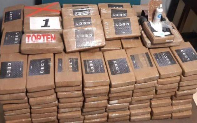 El valor de la cocaína intervenida asciende en el mercado negro a 12 millones de dólares.