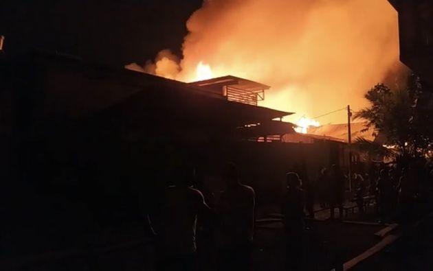 En el municipio de Riosucio, el 90% de las viviendas son de madera y no tiene cuerpo de bomberos. Foto: @GobChoco