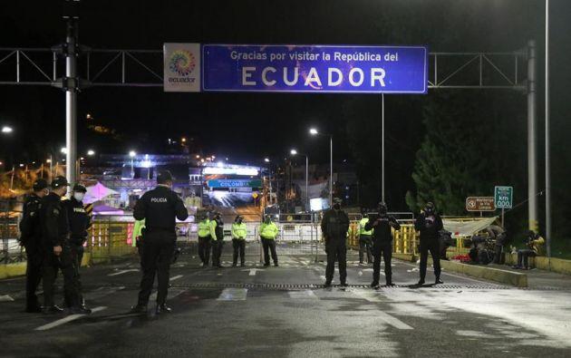 Ecuador cerró sus fronteras el 16 de marzo pasado al decretar el estado de emergencia sanitaria por la pandemia del coronavirus. Foto: EFE