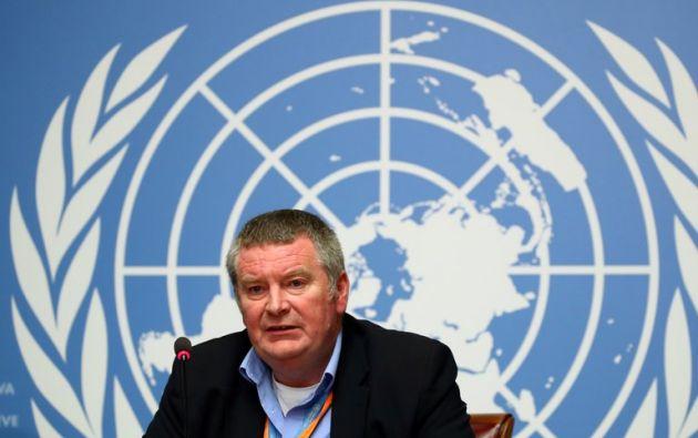 Mike Ryan, alto responsable en la Organización Mundial de la Salud (OMS), en rueda de prensa. /EFE