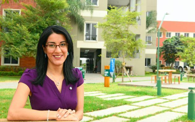 La rectora Gilda Alcívar destacó los esfuerzos de la universidad Ecotec al momento de implementar iniciativas ecológicas. Foto: César Mera.