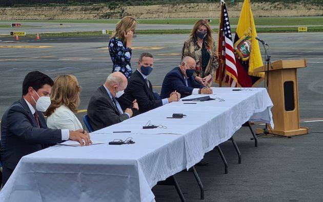 El acuerdo, suscrito en Quito, estará dirigido a la banca privada nacional.