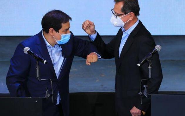 El binomio conformado por Andrés Arauz y Carlos Rabascall.