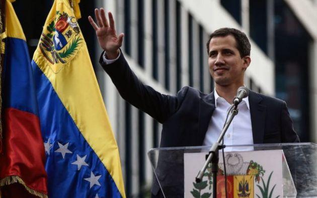 El líder opositor Juan Guaidó Foto: EFE