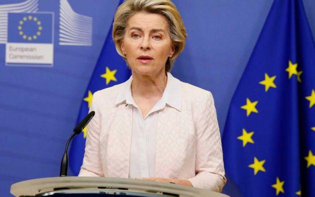 La presidenta de la Comisión Europea (CE), Ursula von der Leyen.