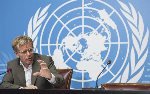 El director de Emergencias de la OMS,  Bruce Aylward, en la sede central europea de las Naciones Unidas, Ginebra, Suiza. Foto: EFE