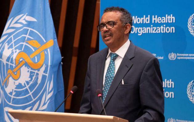 Tedros Adhanom Ghebreyesus, director general de la OMS. Foto: EFE