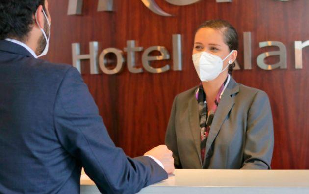 Con medidas de bioseguridad los hoteles buscan brindar confianza a sus huéspedes. Foto: Cortesía.