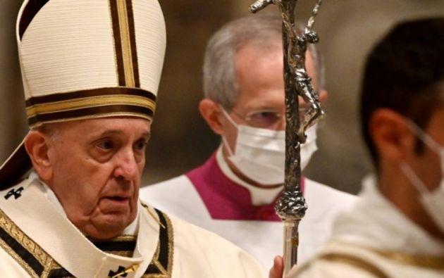 El pronunciamiento lo hizo sin la presencia de fieles, por el confinamiento en Italia.