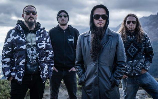 """Los integrantes de la banda ecuatoriana """"Descomunal"""". Foto: EFE"""
