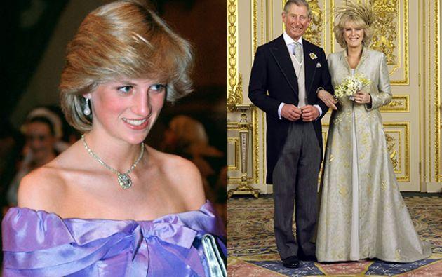 La princesa Diana (izq) y El príncipe Carlos y Camila.