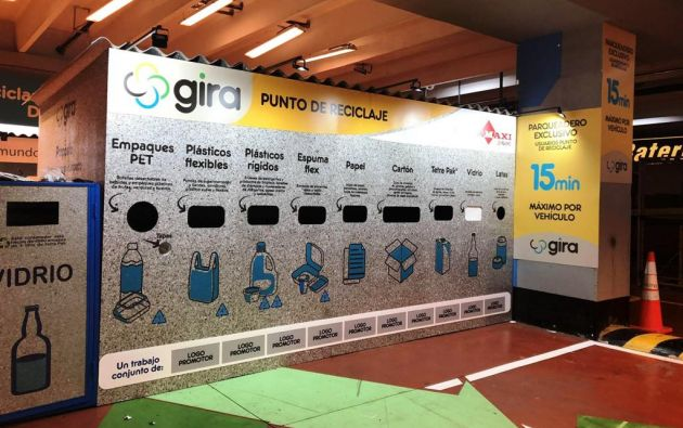 Las 80 estaciones de separación de residuos de GIRA fueron fabricados con Ecopak, un material que resulta del reciclaje de alta durabilidad.